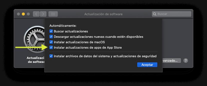 Activar o desactivar las actualizaciones automáticas de las aplicaciones del App Store en macOS Mojave