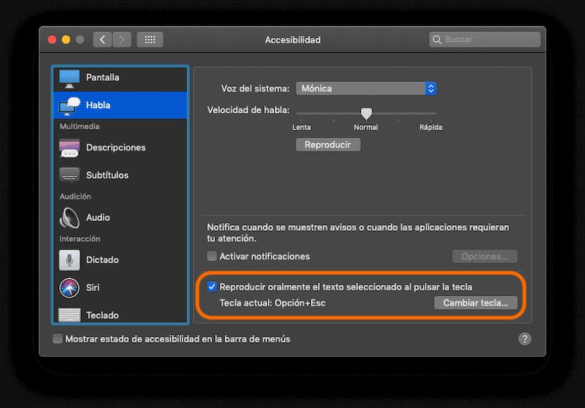 Activar el dictado en Mac