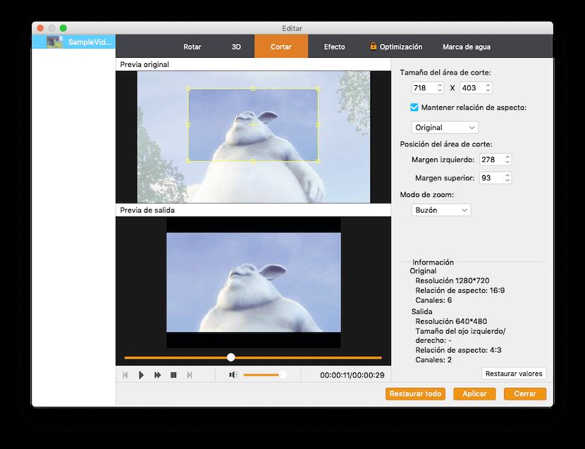 Cortar en Video Converter Pro