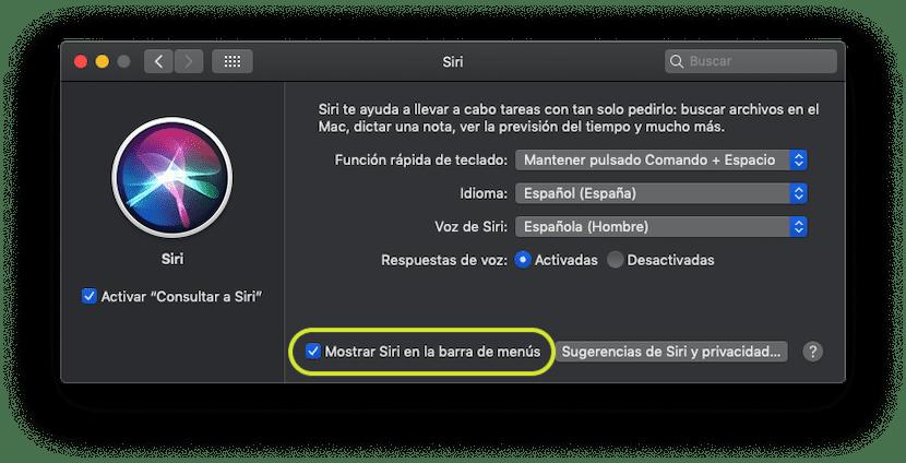 Eliminar Siri de la barra de herramientas en Mac