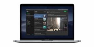 MacBook con darkmode en evernote