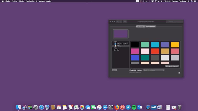 Fondo de pantalla con color hexadecimal personalizado en Mac
