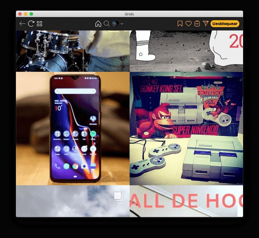 Grids for Instagram para Mac: feed de inicio