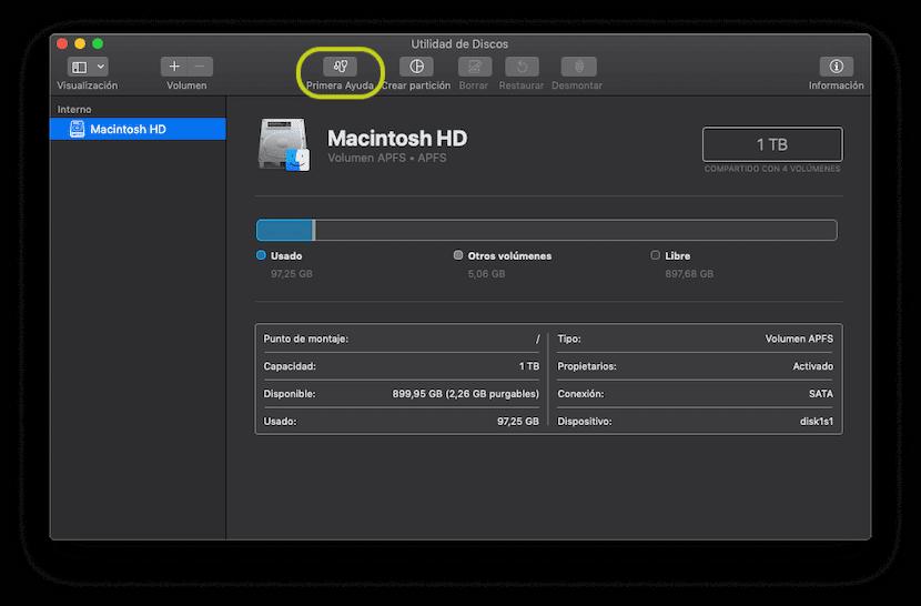 Primera Ayuda en Mac