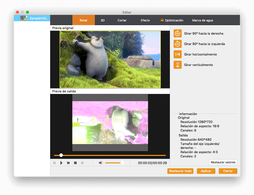 Rotar en Video Converter Pro