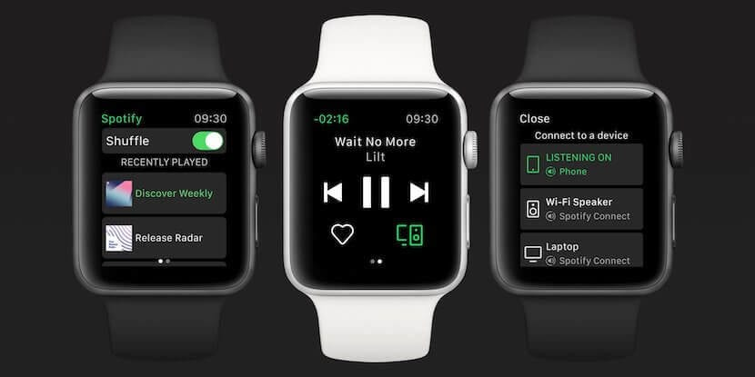 Spotify para el Apple Watch