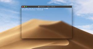 Terminal con fondo transparente en Mac