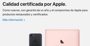 Nueva web de productos reacondicionados de Apple