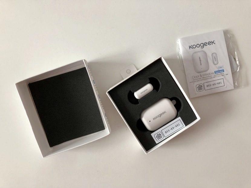 Interior caja sensor koogeek