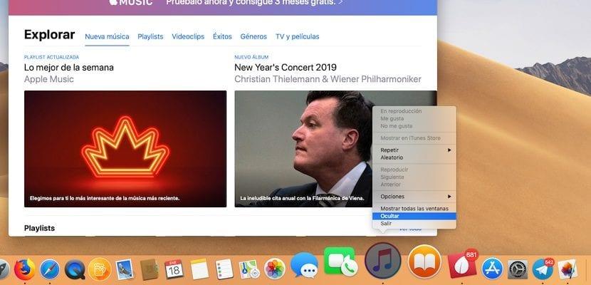 ocultar aplicación abierta en macOS