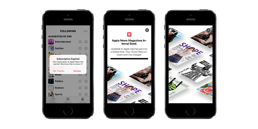 Suscripciones a Apple News en la beta de iOS 12.2