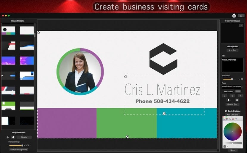 Crear tarjetas de visita desde usted Mac