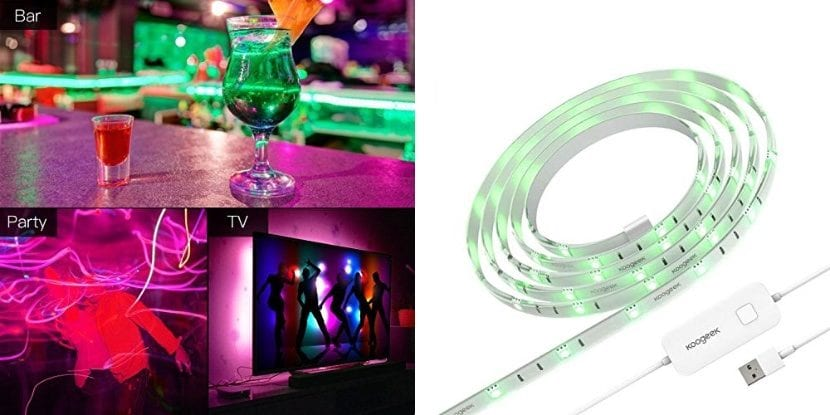 Tira de LEDs de colores Koogeek compatibles con HomeKit