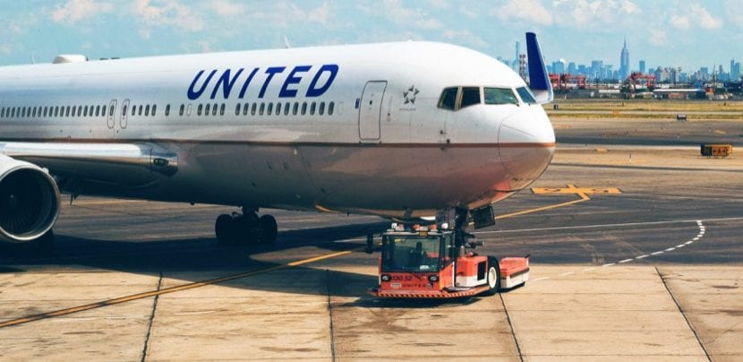 Avión United Airlines