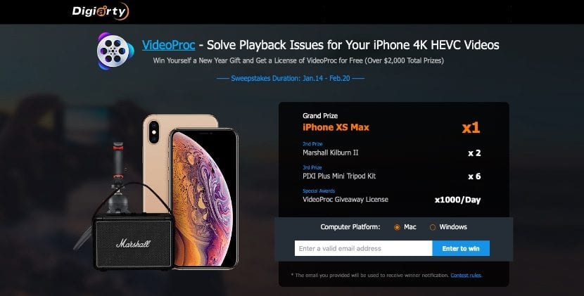 VideoProc promoción iPhone XS Max