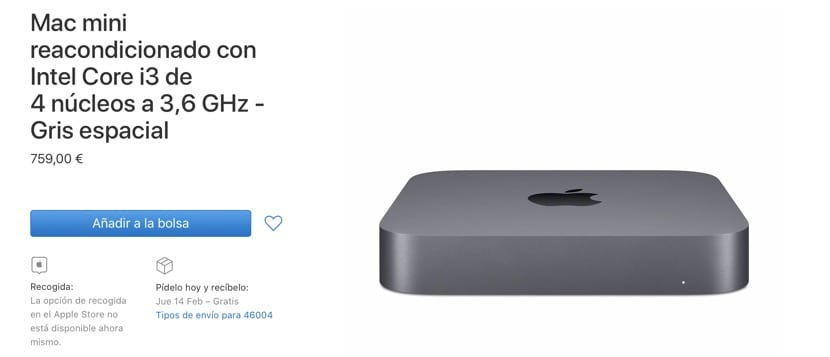 Mac mini 2018 reacondicionado