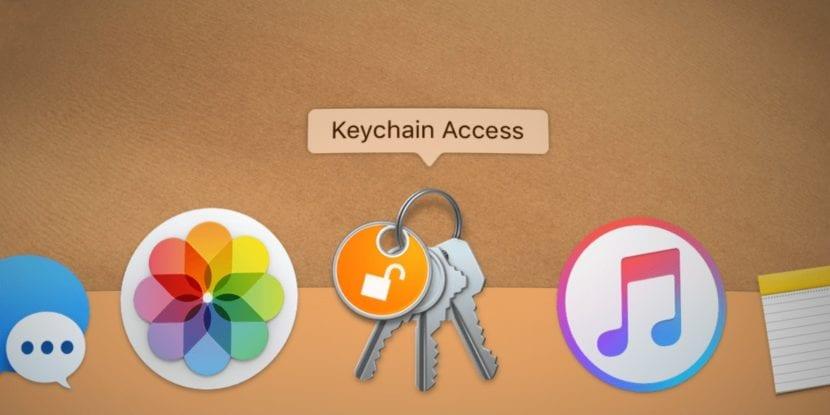 icono de la aplicación llavero en el Dock
