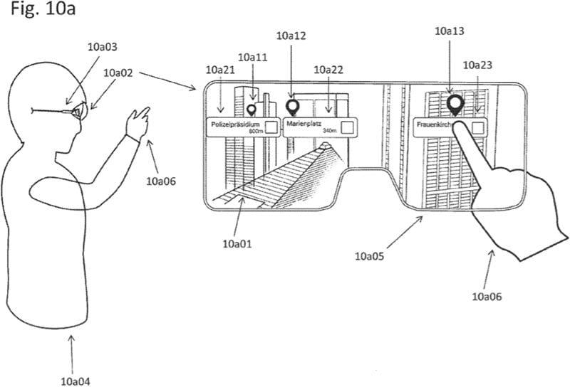 Patente de unas Apple Glasses orientadas a mostrar elementos emblemáticos