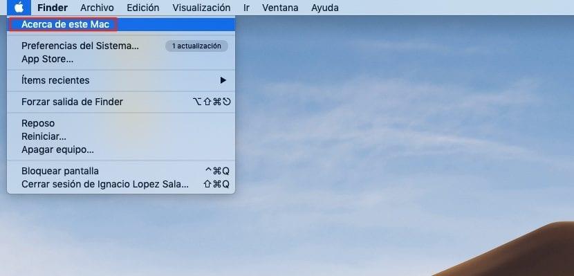 Versión de macOS de un equipo Mac