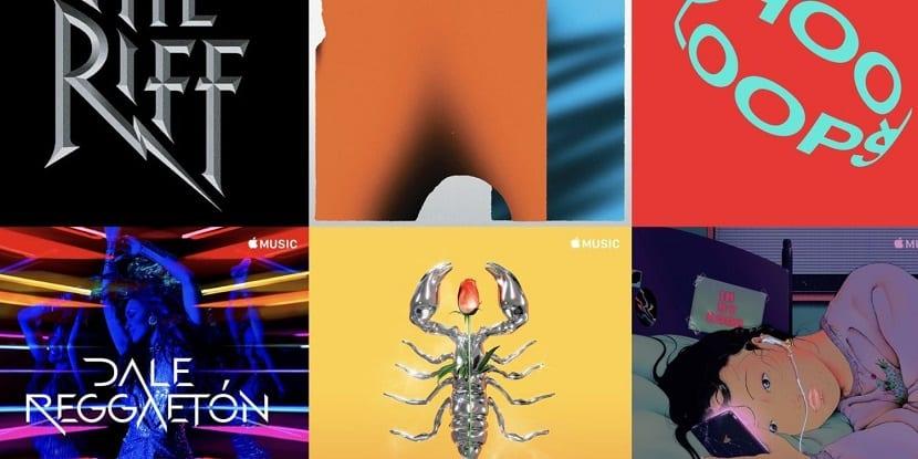 Nuevas carátulas de las playlists de Apple™ Music