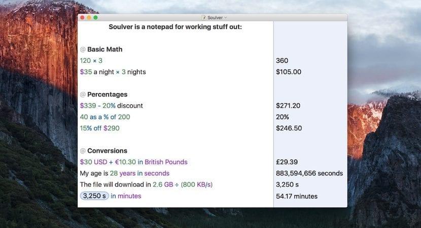 Soulver - Cálculos matemáticos