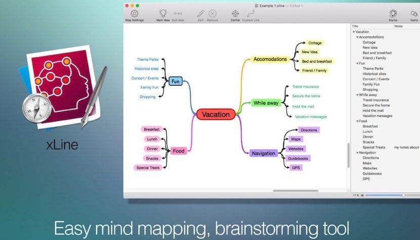 xLine - Mapas mentales