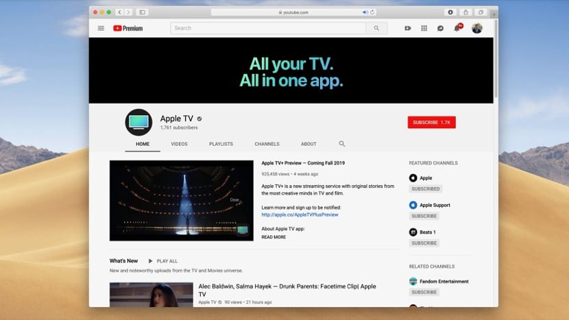 Canal de Apple TV en Youtube