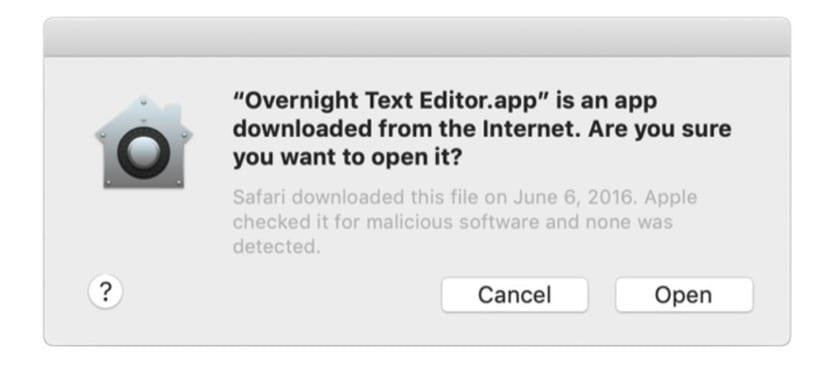 Verificación de aplicaciones en macOS