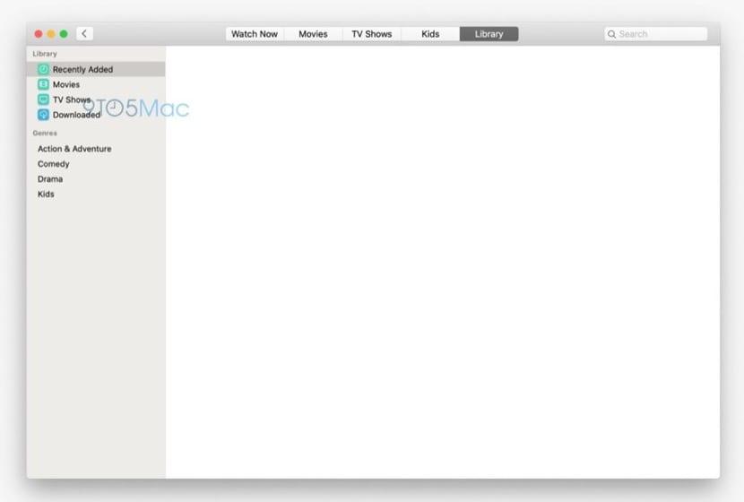 Aplicación Apple TV en macOS 10.15