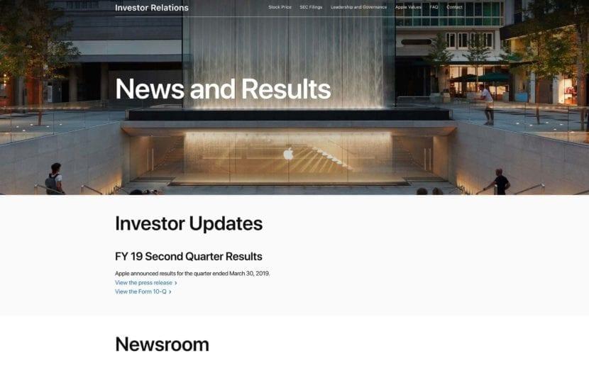 Nuevo portal de relaciones con inversores de Apple