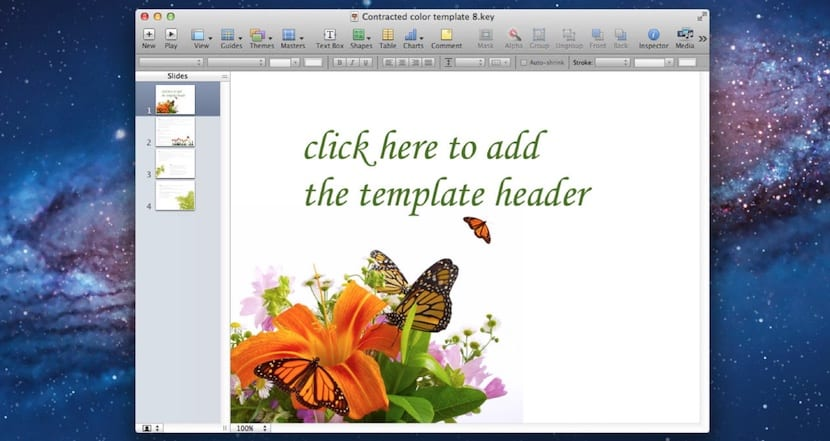 Plantillas para keynote