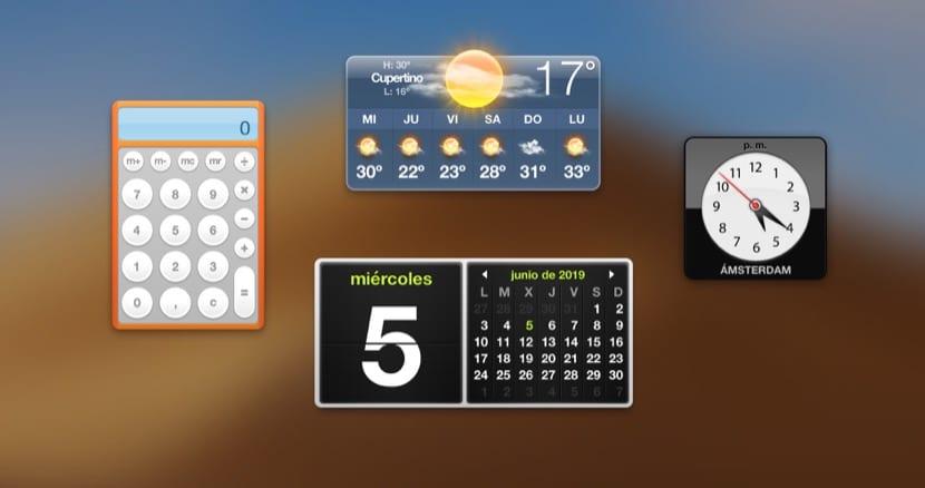 Dashboard en macOS Mojave