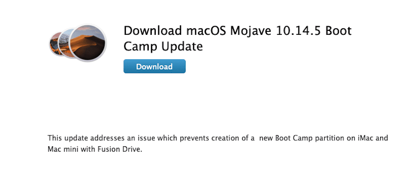 macOS 10.14.5 Boot Camp
