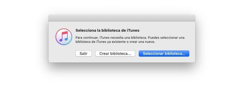 Seleccionar bibliotecas iTunes