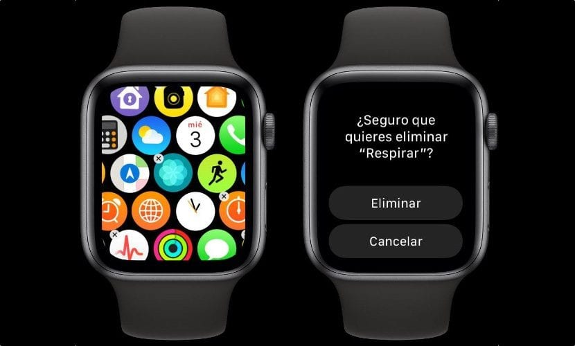 Borrar aplicaciones Apple Watch