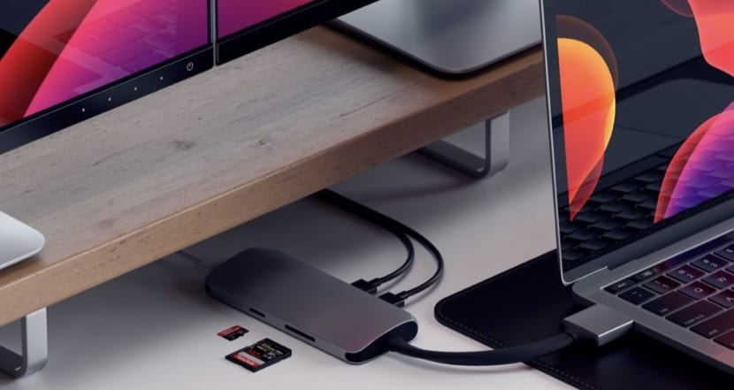 Satechi Adaptador multimedia dual USB-C.