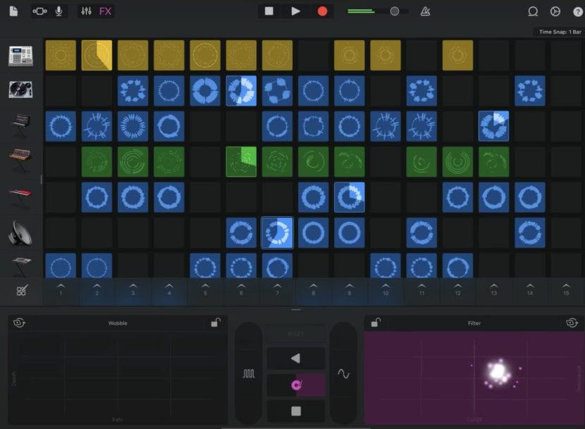 Una de las funcionalidades de GarageBand para iOS