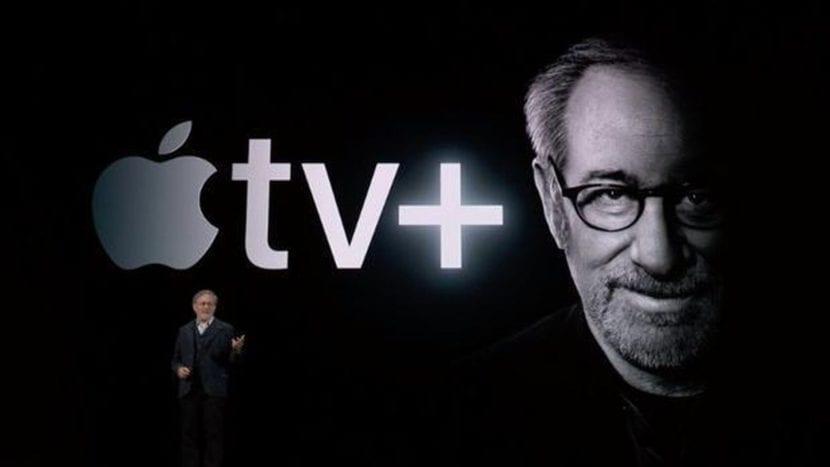 Steven Spielberg fue uno de los abanderados en la presentación de Apple TV+ en la Keynote de Apple de septiembre de 2019