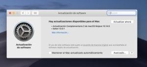 Actualización macOS