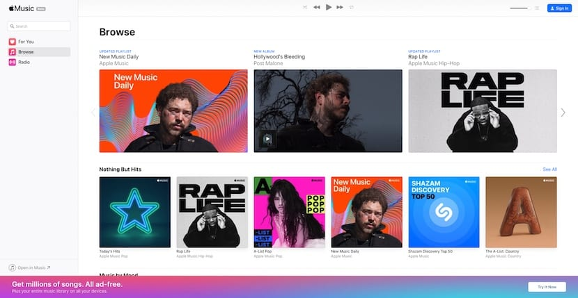 Apple Music web
