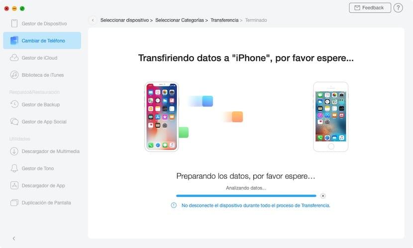 Cambiar de teléfono - AnyTrans