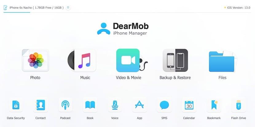 DearMob, recibe información de un iPhone a otro