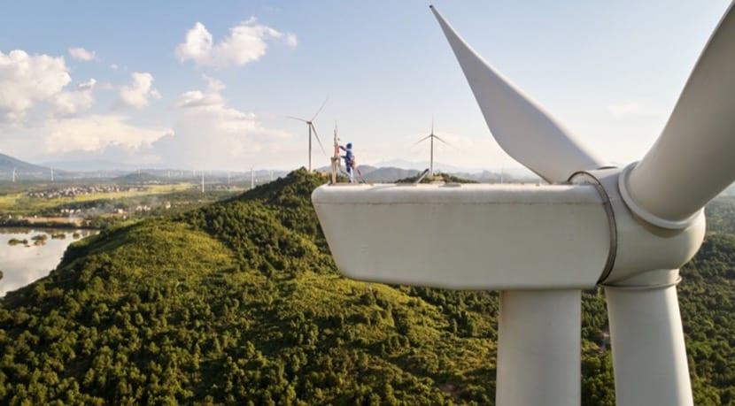 Molino viento China