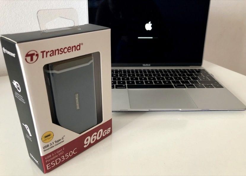 Transcend SSD y MacBook