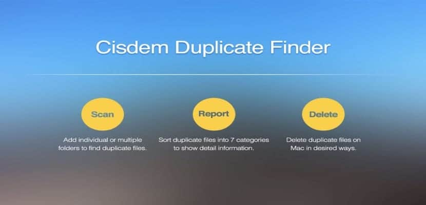 Cisdem Duplicate Finder Una de las mejores aplicaciones para Mac que se encarga de eliminar archivos duplicados en el Mac