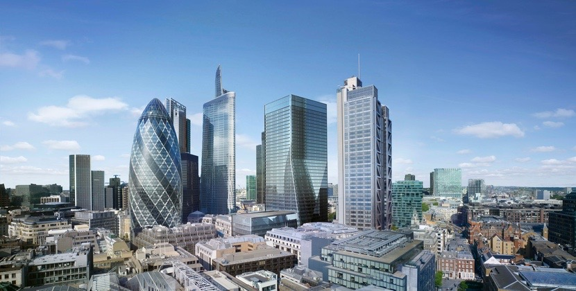 Idea de cómo será el nuevo centro financiero de Londres donde Apple llevará sus oficinas