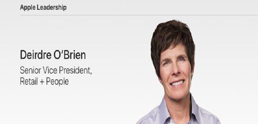 Deirdre O'Brien es el vicepresidente sénior de Retail y People de Apple junto con Tim Cook apoyan personalmente el programa DACA