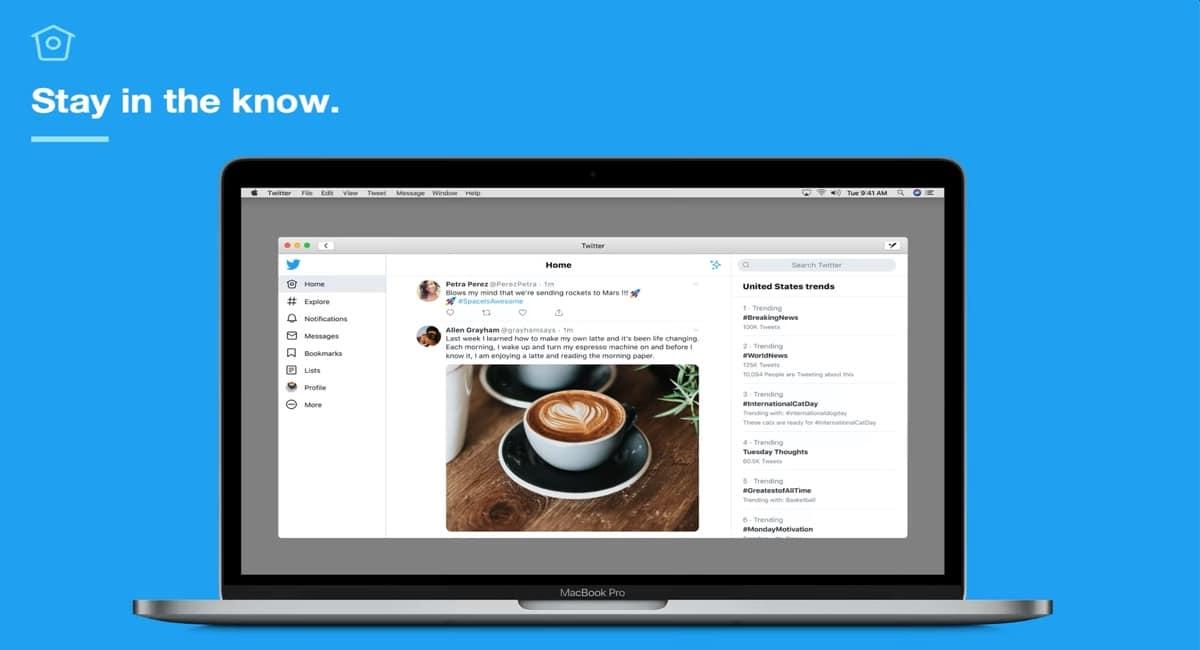 Aplicación Twitter para nuestros Mac