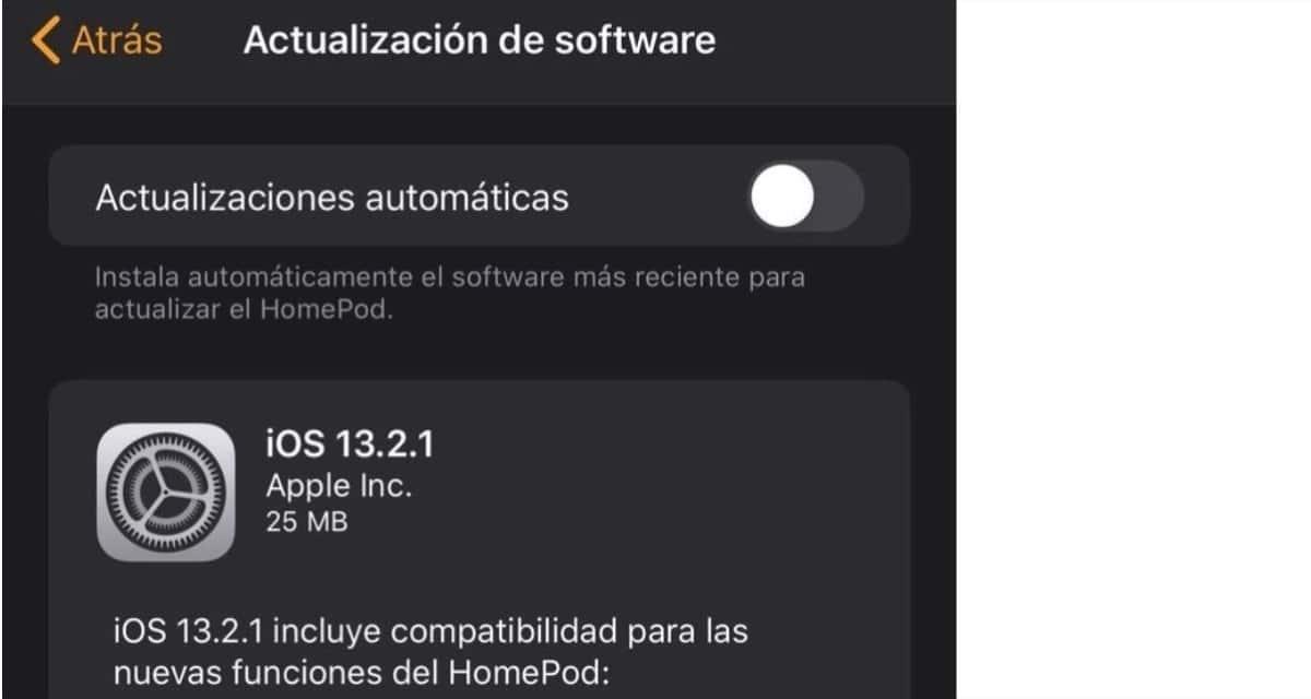 Actualización HomePod