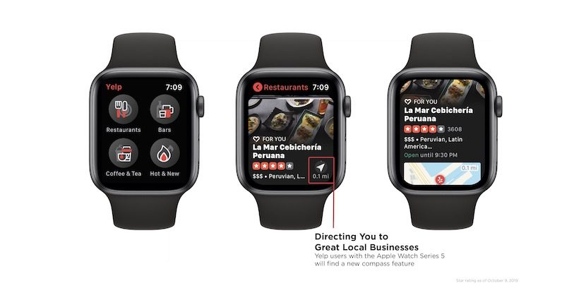 Yelp Apple Watch